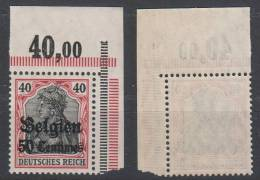Belgien,5 I,xx,OR Platte - Besetzungen 1914-18