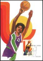 UNITED STATES INGLEWOOD 1984 - LOS ANGELES ´84 OLYMPIC GAMES - BASKETBALL STATION - MAXIMUM CARD - Estate 1984: Los Angeles