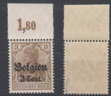 Belgien,11b,OR Platte,postfrisch,gep. - Besetzungen 1914-18