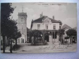 CPA  88    BUSSANG   -   La Mairie Et L'église 1932   N: 1333 - Bussang