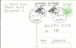 Slovenia - Postcard - Postal Stationery Travelled To Croatia 1994 - Slovenia