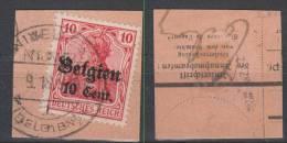 Belgien,14aZa2,o,gep. - Besetzungen 1914-18