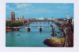 CARTE COLORISEE VILLE DE  LONDRES /  VUE DU PARLEMENT ET RIVE EN FACE /PONT LAMBETH SUR TAMISE /  VOYAGEE   /  BON ETAT - Houses Of Parliament