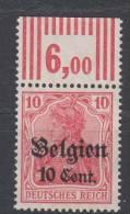 Belgien,14c,OR Walze,postfrisch, - Besetzungen 1914-18