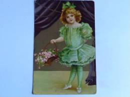 Petite Fille à La Robe Verte - Kinder