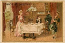Chocolat SAINTOIN - Le Départ Pour La Journée D' études Après Le Déjeuner -  2 Scans - Cioccolato