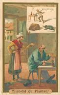 Chocolat Du PLANTEUR - L' IVROGNE Et Sa Femme -  2 Scans - Chocolat