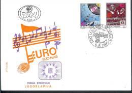 Yugoslavia 1990 Eurovision Song Contest In Zagreb FDC 2417-2418 - Yugoslavia