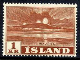 ICELAND 1948 Hekla Eruption 1 Kr. MNH  / **.  Michel 252 - 1944-... Republic