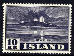 ICELAND 1948 Hekla Eruption 10 Kr. MNH  / **.  Michel 253 - 1944-... Republic