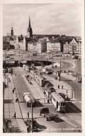 Schweden, STOCKHOLM, Utsikt Fràn Katarinahissen, Alte Strassenbahn, Lastwagen, Tankwagen, Gelaufen 1960 - Schweden