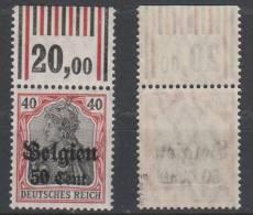 Belgien,20a,OR Walze,postfrisch,gep. - Besetzungen 1914-18