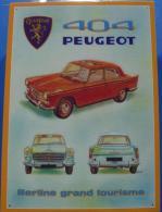 """Plaque Tôle """"PEUGEOT 404"""" - Automotive"""
