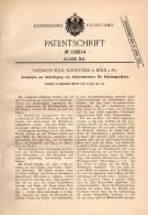 Original Patentschrift - F. Schnittker I Köln A. Rh., 1901 , Schablone Für Schnittmuster Von Kleidung , Schneiderei !!! - Schnittmuster