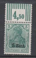 Etappe West,2c,OR Walze,postfrisch, - Besetzungen 1914-18
