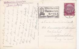 P/HISTORY -1937 GERMAN SLOGAN CANCELLATION - Collections