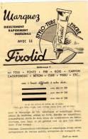 Stylo-Tube à Encre : FIXOLID - A. BURKARD & Cie -Mulhouse (Ht-Rhin) - Pubblicitari