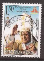 2003X  BOSNIA REPUBLIKA SRPSKA RELIGIONE PAPA PAOLO  II   USED - Pausen