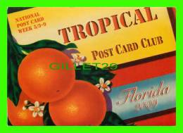 ADVERTISING - THE TROPICAL POST CARD CLUB, POMPANO BEACH, FL - OLSON CIVIC CENTER - - Publicité