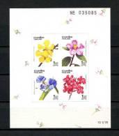 **THAILANDE  1991  Bloc N° 32a Non Dentelé  **  Superbe.  Cote: 2.50 €  (Flore, Fleurs. Flowers, Flora) - Thailand