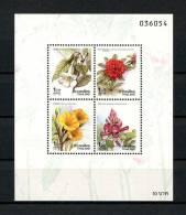 **THAILANDE  1990  Bloc N° 24  **  Superbe.  Cote: 3.25 €  (Flore, Fleurs. Flowers, Flora) - Thailand