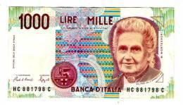 ITALIE . UN BILLET DE 1000  LIRE - 1000 Lire
