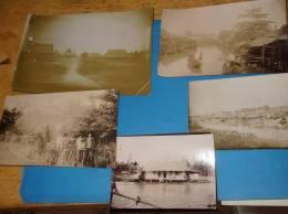Lot De 5 Photos Originales Anciennes VIETNAM Indochine Lieu A Identifier Saigon? - Viêt-Nam