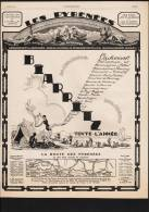 Pub Papier 1927 Tourisme Voyage La Route Des PYRENEES  Biarritz Pyrénées Atlantiques 64 - Pubblicitari