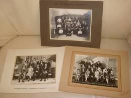 Lot De 3 Photos Anciennes Classe Ecole Conscrits ISERE (Voiron St Jean De Moirans St Joseph De Riviere) - Photos