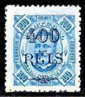 !■■■■■ds■■ Zambezia 1902 AF#41(*) 1902 Surcharges 400/200 Réis Mint (D0166) - Zambèze
