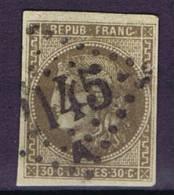 France: Yv 47, Mi 42, Oblitéré/cancelled, Signé/signed, Bonne Centralisée, GC 2145 Lyon