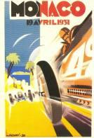 Monaco Grand Prix  -  1931    -   Illustration Par Falcucci    -    Carte Postale - Sport Automobile