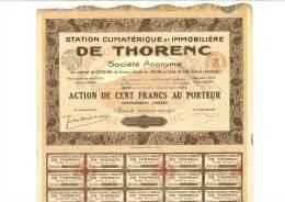 Station Climatérique Et Immobilière De Thorenc  20 Juillet 1928 - Autres