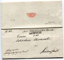 Altbrief  Vorphila M.SCHÖNBERG Nach BODENSTADT 11. Jun 1844 (012) - Austria