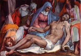 Volterra - Santino Cartolina DEPOSIZIONE DELLA CROCE (Pietro Witte Detto Pier Candido) - PERFETTO E27 - Religione & Esoterismo