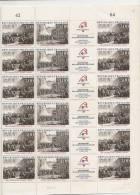 CONVOCATION DES ETATS GENERAUX  8 AOUT 1788  + FEUILLE DE 12 DIPTYQUES  A 7,00FRANCS - Feuilles Complètes