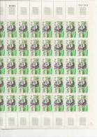 ALAIN COLAS     + FEUILLE DE 50 TIMBRES A 3,70 FRANCS - Feuilles Complètes