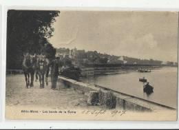 91 - ATHIS-MONS - BORDS DE SEINE -  CHEVAUX D´ATTELAGE - 1907 - Athis Mons