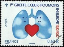 France, 2012, 1ère Greffe Coeur-poumons (YV 4674) - Neufs