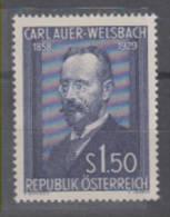 Austria Carl Auer-Welsbach Mi#1006 1954 MNH ** - 1945-.... 2nd Republic