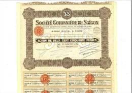 Société Cotonnière De Saigon Capital 12 Millions - Other