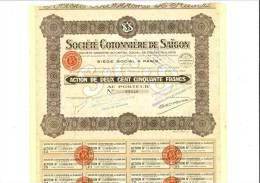 Société Cotonnière De Saigon Capital 12 Millions - Actions & Titres