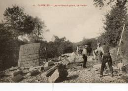 CAROLLES (50) Carrières De Granit Casseur De Pierre Beau Plan - France