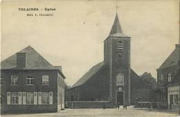 Velaines :  Eglise  ( Ecrit 1912 Avec Timbre ) - Celles