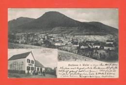 Breitenau B. Weiler Im Elsass 1911 Wirtschaft Joseph Würth Cachet GRUBE FOUCHY - Frankreich