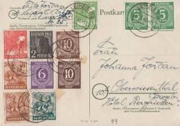 Gemeina. Karte Zehnfach Mif Minr.2x 915,916,2x 918,943,945,946,949,2x 951 Leipzig 14.7.48 - Gemeinschaftsausgaben