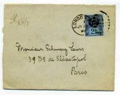 YT N°95 Seul Sur Lettre De LONDON Pour PARIS / 22 Juillet 1896