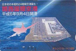 Carte Orange Japon - Avion & Aeroport - Airlines Japan Prepaid Card - Airplane Flugzeug Avion JR Karte - 270 - Avions