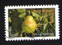 France 2012 Oblitéré Used Fruits Pour Une Lettre Verte Poire William Y&T 697 - France