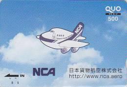 Carte Prépayée Japon - NIPPON CARGO AIRLINES - Japan Prepaid Card - Airplane Flugzeug Avion Quo Karte - 278 - Avions